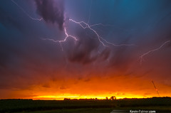 There Are No Words (kevin-palmer) Tags: red summer sky orange storm west june yellow clouds spectacular gold golden evening illinois spring cornfield colorful vibrant stormy thunderstorm lightning gladstone severe kevinpalmer pentaxk5 samyang10mmf28