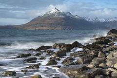 Elgol in Winter (omarkhyam600) Tags: elgol isleofskye scotland coast mountain sealoch slowshutterspeed nikond750 nikkor2485mm waves tide rocks cloud