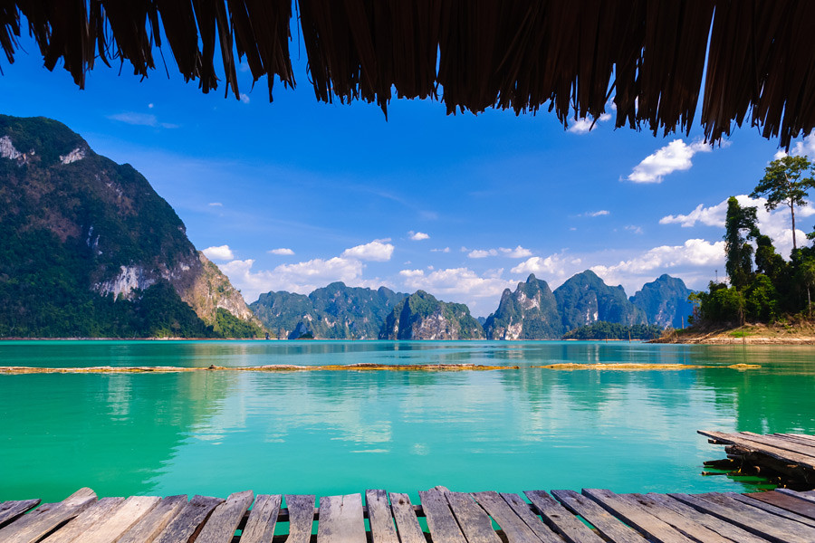 Wake up to the stunning scenery of Khao Sok National Park