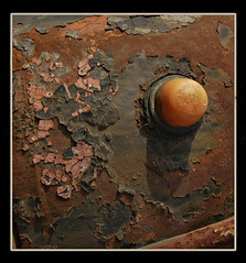 Ye olde iron (Ulvraith) Tags: old car classic truck detail indicator blinker phanomen garant rust cracked sony a500 czech