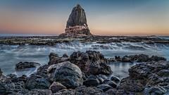 Standing out against the crowd DSC_8799 (BlueberryAsh) Tags: capeschanck ocean beach pulpitrock morningtonpeninsular australianseascape seascape water longexposure 10stopndfilter sunset rocks