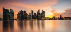 Sunset at Singapore Business District (Ryan Zhang Photography) Tags: singapore nisi sony a7r 1635mm sunset landscape filter cbd raffles marina cityscape mirrorless long exposure