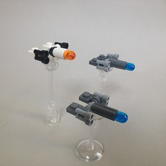 Scimitars in flight (TenorPenny) Tags: lego microscale microspace