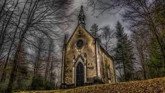 Derrière les arbres (Fred&rique) Tags: lumixfz1000 photoshop raw hdr chapelle arbres jura