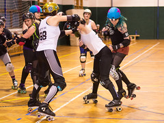 32 (Jan Hutter) Tags: czech roller derby team prague city hard breaking dolls sport indoor skates training girls jammer blocker pivot