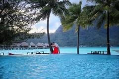 The Kiss at Dawn! InterContinental Bora Bora Resort & Thalasso Spa (BoraBoraPhotosVideos) Tags: borabora island paradise southpacific sun beach sunrise amazing dream holydays beautiful bestvacations photooftheday picoftheday photodujour wedding tahiti polynesian edouardott