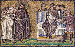 Good Friday I - Jesus is Condemned to Death (Lawrence OP) Tags: biblical passion pilate trial wash hands jesuschrist mosaic ravenna santapollinarenuovo