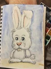 Easter Wabbit in #watercolor (Howard TJ) Tags: drawing wabbit rabbit painting watercolor