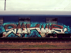 Abandoned sleeping car (Jörn Pachl) Tags: trains railway railroad sleepingcar abandoned graffiti streetart eisenbahn deviantart nighttrain