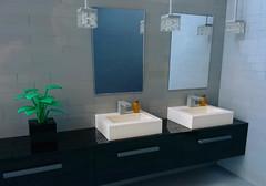 Bathroom (Heksu) Tags: lego bathroom sink soap mirror lamp