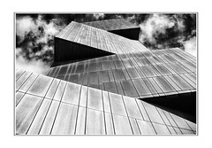 Broadcasting tower, Leeds. (raymondstewart1) Tags: architecture towers buildings cityscape citycenter sky skyscape clouds cloudscape mono blackandwhite