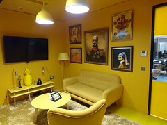 7 C3PO Room (christianodendaal) Tags: office hipster geeky tech trendy fun london whitechapel unruly smalls start up startup media company agency funny themed starwars star wars meeting room c3po yellow