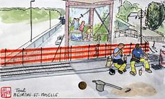 Le Tour de France virtuel - 54 - Meurthe-et-Moselle (chando*) Tags: croquis sketch aquarelle watercolor france