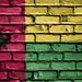 National Flag of Guinea-Bissau on a Brick Wall