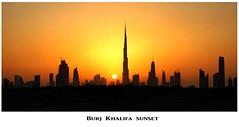 Dubai sunset with the Burj Khalifa (Andy Coe) Tags: dubai burj khalifa sunset skyscaper tallest building world silhouette city