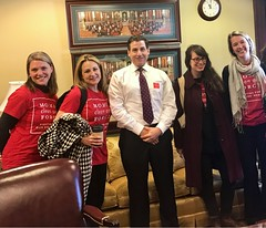 Visiting Senator Farnese