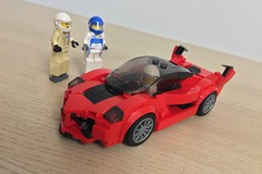 Third trial in two days (Okihana) Tags: mod ferrarifxx lego speedchampions