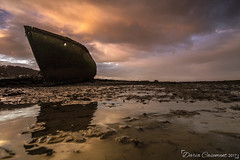 Boat wreck (dareangel_2000) Tags: dariacasement boat wreck marine codown dundrum northernireland bay sand sea water goldenhour magichour seascape march 2017 boatwreck rusty crusty whereinireland wowiekazowie clouds inanimate coolbeans atmosphere mood country reflections abandoned