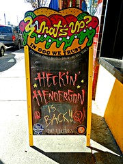 Heckin Henderson (knightbefore_99) Tags: vancouver eastvan cool heckin henderson band music hastings bistro board art awesome dog trust beer wings burgers