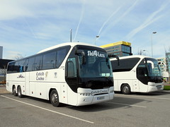 Enfield Coaches Neoplan Tourliner pair (miledorcha) Tags: enfield coaches rathcore county westmeath eire republic ireland irish neoplan tourliner triaxle tour tours touring luxury coach ski4less contract livery travel holidays liverpool 141wh1375 171wh1078 visitor ski4lesscom
