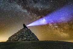 Space Explorer (hattiebella) Tags: spaceexplorer space astrophotography cosmos galaxy milky way long exposure silhouette hattiehall blindphotographer viphotography outside nightime dark skier skies exmoor uk england astro