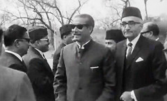 The Round Table Conference called by President Ayub Khan March 3, 1969: Mian Mumtaz Muhammad Khan Daultana with Sheikh Mujibur Rehman (Doc Kazi) Tags: president ayub khan muhammad pakistan history end regime talks 3 march 1969 all leading politicians except bhutto