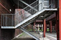 Stairs (frankdorgathen) Tags: ruhrgebiet essen zollverein zeche industry outdoor architecture building steel iron metal stairs