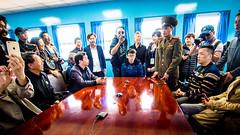 P4070229-1 (Yen L.) Tags: northkorea korea koryo dprk asia communism 조선 조선민주주의인민공화국 朝鮮 北韓 韓 高麗 板門店 판문점 panmunjom soldier dmz