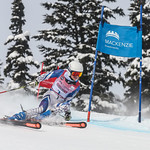 April 16th, 2017 - Tessa Foote of Ontario takes second place in the U14 McKenzie Investments Whistler Cup Womens GS Race - Photo By Rob Perry - coastphoto.com