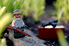 Chasing Charlie (♕ Spencer) Tags: lego vietnam brickarms brickforge citizenbrick eclipsegrafx nature shot minifigure m60