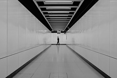"""""""mass"""" transit (hugo poon - one day in my life) Tags: x100f hongkong northpoint mtr northpointstation solitude empty passingby"""