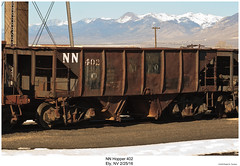 NN Hopper 402 (Robert W. Thomson) Tags: nn nevadanorthern hopper traincar railcar orecar orehopper rollingstock train trains railroad railway ely nevada