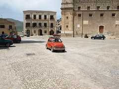 "Fiat 500 in Palazzo Adriano, Sicily, where the movie ""Cinema Paradiso"" was made."