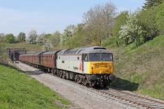 47376 Class 47/3 diesel locomotive (Roger Wasley) Tags: 47376 class 47 freightliner 1995 gwsr greet tunnel gloucestershire warwickshire steam railway trains diesel locomotive uk gb britain british