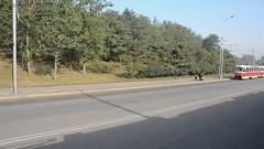 Tram from a tram (multituba) Tags: northkorea dprk
