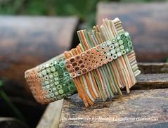 Retro Earthtones (IN handmade) Tags: brooch clips polymerclay bracelet bangle earrings earthtones bettina welker inhandmade panarili