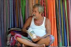 Man's Portrait (Vincentdevincennes) Tags: portrait people india colors streetlife kolkata inde westbengal