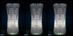 Cylinder Lamp Shade Folded Paper 2/3 (NeoSpica / NeoLiveArt) Tags: lighting lamp design origami floor mosaic cylinder intersection column fold papier lampshade tessellation corrugation folding floorlamp miura tessellated pleating corrugations pleat lampdisplay
