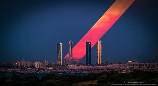 Timestack Super Luna Cuatro Torres Madrid Agosto 2014
