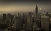 Golden dawn over NYC (toepferchris) Tags: nyc travel usa newyork skyline america sunrise buildings empirestate 18135 xt1