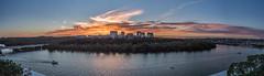 Panorama Sunset Over Rosslyn (Geoff Livingston) Tags: sunset panorama arlington center va potomac rosslyn potomacriver kennedy