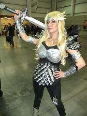 P1120426 (Randsom) Tags: nyc newyorkcity woman newyork costume cosplay convention heroine superhero sword comicbooks warrior marvel marvelcomics valkyrie javits 2014 nycc superheroine newyorkcomiccon october2014 nycc2014 newyorkcomiccon2014