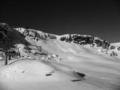 (chiara.poire) Tags: winter bw snow ski neve inverno bianconero trentino dolomiti chairlift malgaciapela seggiovia