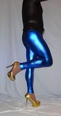 6 (read my Profile before anything!!!!!) Tags: gold high highheels plateau heels leggings machado