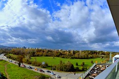 2014_10_17-th_Panorama_#37_ (Me now0) Tags: road park blue trees sky panorama white color tree green colors clouds mall landscape nikon colorful europe power sofia south lawn windy sunny panoramic line pole bulgaria wires cumulus coolpix transmission wiew      l330