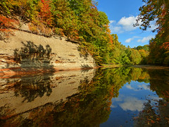 The Fall Reflectons (junglejims photos) Tags: travel blue autumn trees ohio sky reflection tree fall water colors leaves reflections river landscape outdoors photography photo photographer photos patterns indian scenic trails hike adventure changing photograph amateur junglejims ashtabula