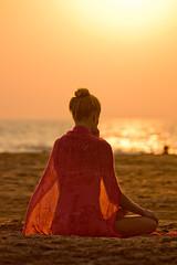 Meditation in India (ikoneo) Tags: people india yoga goa meditation