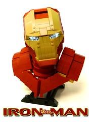 IronMan Bust (ZetoVince) Tags: man iron lego vince ironman bust figure superhero zeto zetovince