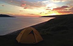 Dreamhouse (manuel.gros) Tags: ocean travel camping light sunset sea sky sun seascape beach clouds strand landscape licht scotland reisen meer colours sonnenuntergang horizon himmel wolken tent landschaft sonne zelt horizont farben schottland meerblick ozean iphoneography