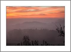 Sonne gegen Nebel ( Sun against fog) (alfred.hausberger) Tags: nebel balkon bad sonne abendsonne griesbach rottal nebelstimmung